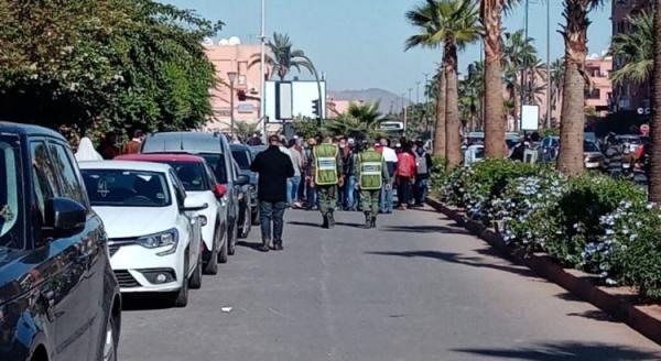 قوات الأمن تتدخل لتفريق مسيرة المتعاقدين بمراكش (فيديو)