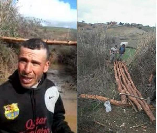 في مغرب 2018: مواطنون يشيدون قنطرة خشبية لفك العزلة عن التلاميذ (فيديو)
