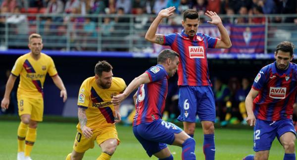 بالفيديو: فوز برشلونة على إيبار بثلاثية ومفارقة تحدث لأول مرة في المباراة