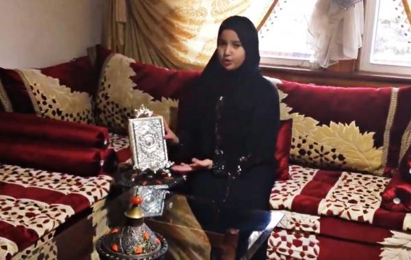 """ليليا حمادات طفلة مغربية في العاشرة من عمرها تنشر """"الإسلام"""" بأمريكا  (فيديو)"""
