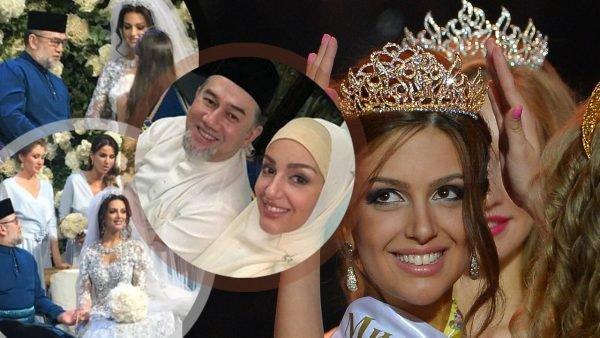 مثير...ملك ماليزيا يشكك في نسب ابنه من ملكة جمال روسيا والفضيحة هي سبب طلاقهما