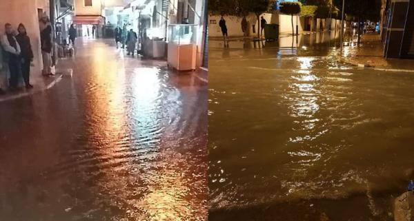 بالصور والفيديو.. مرتيل تغرق بعد أمطار عاصفية