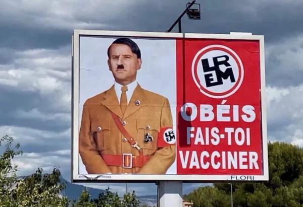 التحقيق في فرنسا حول لافتات شبهت ماكرون بهتلر