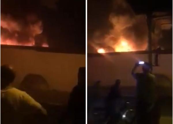 حريق مهول بسوق في انزكان يأتي على عشرات المحلات التجارية و يتسبب في خسائر مادية ضخمة
