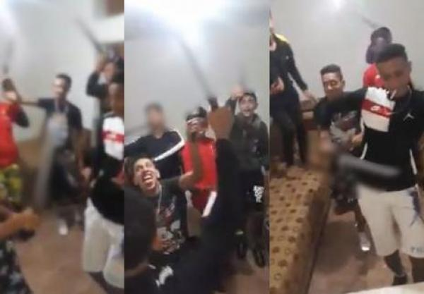 """أبطال فيديو الرقص بـ""""السيوف"""" يسقطون في قبضة رجال الأمن"""