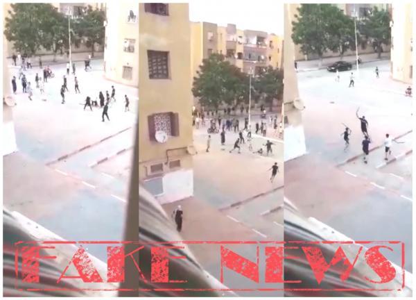"""مديرية الأمن توضح حقيقة فيديو """"الضرب والجرح"""" بالأسلحة البيضاء خلال الحجر الصحي بالمغرب"""
