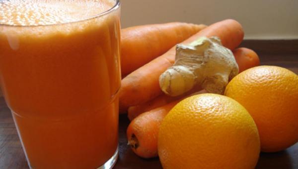 عصير البرتقال بالجزر والزنجبيل