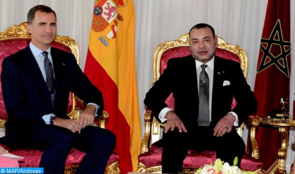 رسالة من العاهل الإسباني إلى الملك محمد السادس