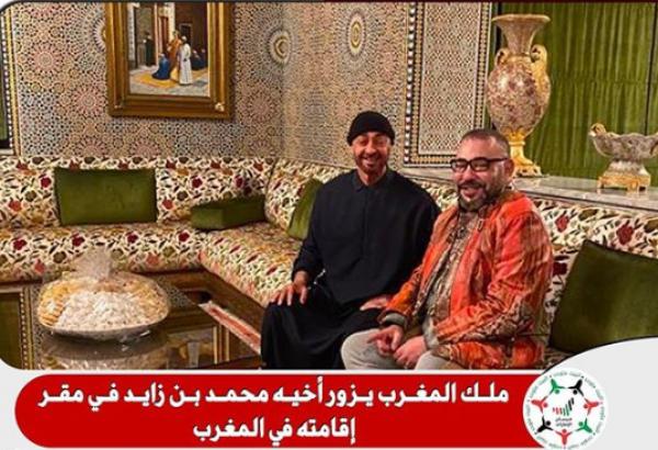 الملك محمد السادس يزور ولي عهد أبوظبي في مقر إقامته بالمغرب