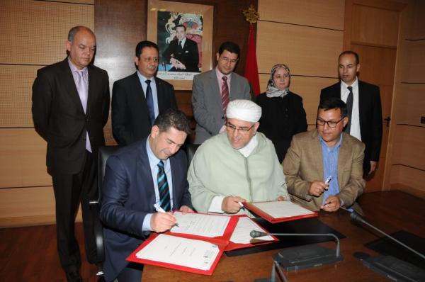 """بالصور:حقوق الإنسان في صلب اتفاقية بين """"أمزازي"""" و""""الرميد"""" و""""منتدى المواطنة"""""""