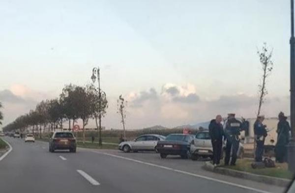 سيارة مجنونة تدهس شرطيا وتختفي