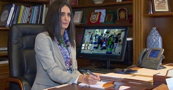 نادية فتاح علوي وزيرة السياحة