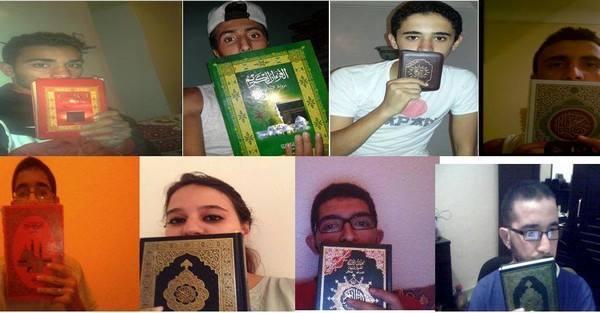"""ردا على """"مظاهرة القبلات""""، مغاربة يطلقون حملة تقبيل المصحف الكريم"""