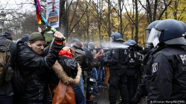 """حراك """"مناهض للكمامات"""" في ألمانيا يكسب مزيدا من الأنصار"""