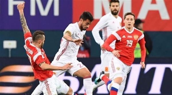 روسيا ترفض الخسارة أمام إسبانيا (فيديو)