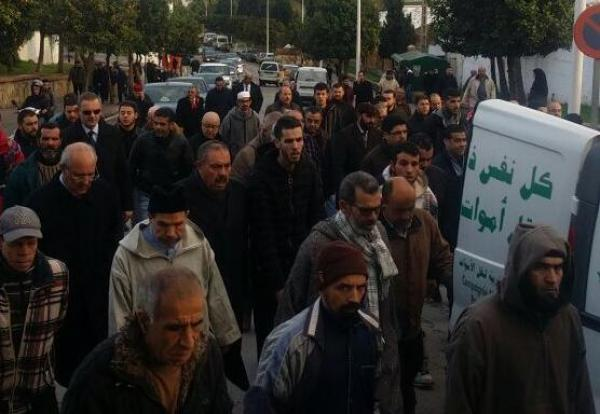 تشييع والد وزير الداخلية لفتيت بتطوان ..وهؤلاء حضروا جنازته