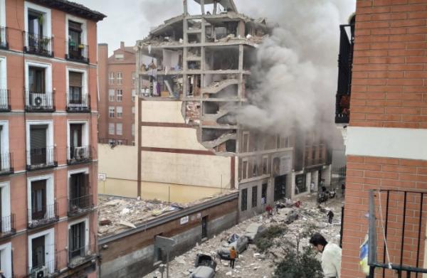 بالفيديو: انفجار عنيف يهز وسط العاصمة الإسبانية مدريد