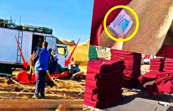 بالصور: الأغطية التي كانوا الطلبة غدي يدفاو بيها في هاد البرد لقاوها كتباع في سوق أسبوعي