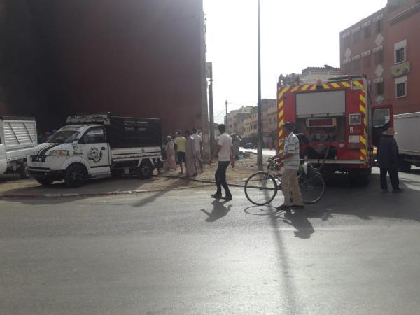 رعب إثر حريق مهول في بناية مهجورة وسط حي سكني والوقاية المدنية تنقذ الموقف