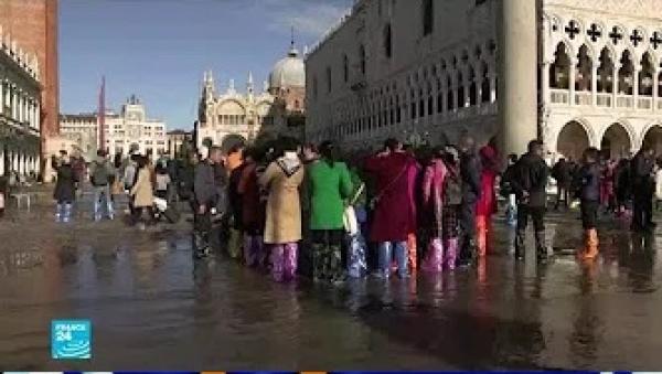 إيطاليا تعلن حالة الطوارئ في البندقية إثر فيضان هو الأكبر منذ 50 عاما!!