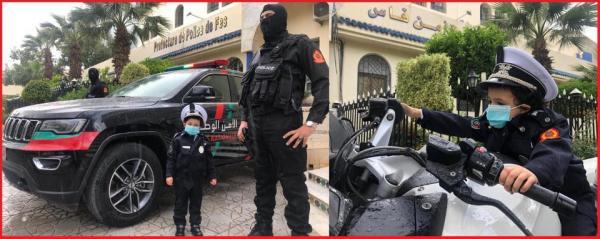 """ولاية أمن فاس تحتفي بالطفل """"محمد يزيد"""""""