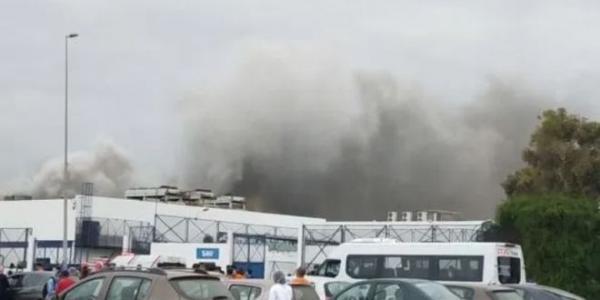 """عاجل .. اندلاع حريق في مرجان """"حي الرياض"""" بالرباط (فيديو)"""