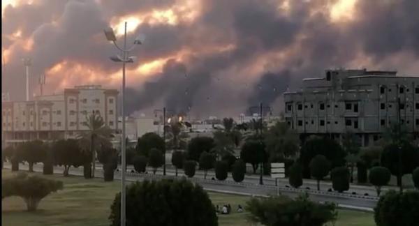 """الانفجارات التي وقعت في معامل شركة """"أرامكو"""" السعودية أدت لتوقف مؤقت في عمليات الإنتاج"""