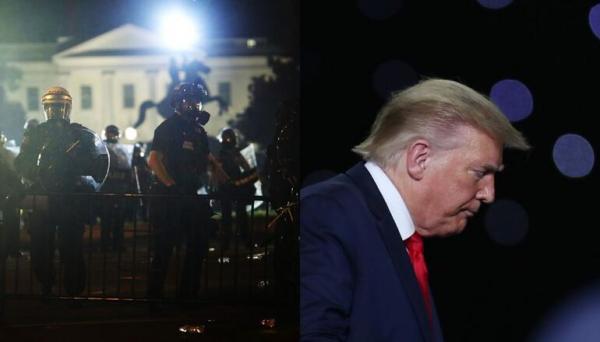 نقل ترامب إلى قبو تحت الأرض بعد اقتراب المتظاهرين من البيت الأبيض