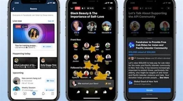 """فيسبوك تنوي التوسع في عالم البودكاست و""""غرف المحادثة"""""""