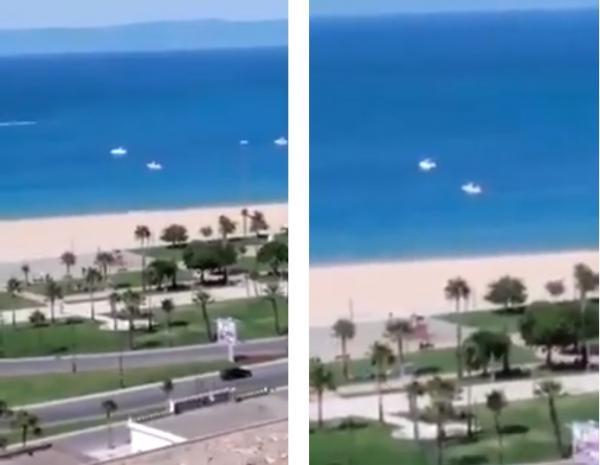 رغم قرار منع السباحة ..مراكب ترفيهية وسط شاطئ طنجة تثير استياء المواطنين (فيديو)