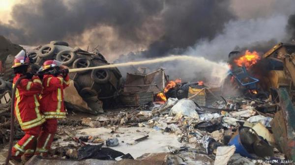 """انفجار بيروت.. صدى فريق الإطفاء """"البطل"""" يصل إلى ألمانيا"""