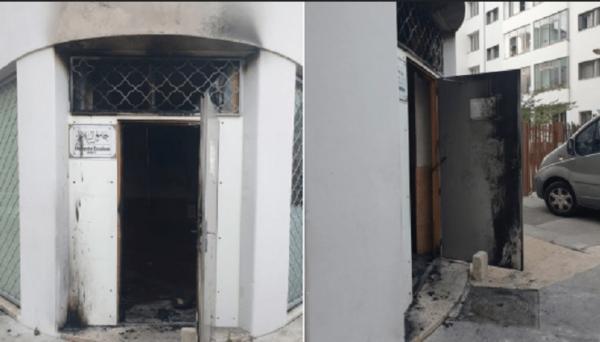 محاولة إضرام النار في مسجد بليون الفرنسية