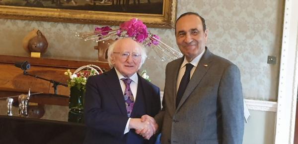 الرئيس الإيرلندي يدعم المسلسل الأممي لتسوية ملف الصحراء المغربية ويعبر عن إعجابه بإنجازات المغرب في عهد جلالة الملك