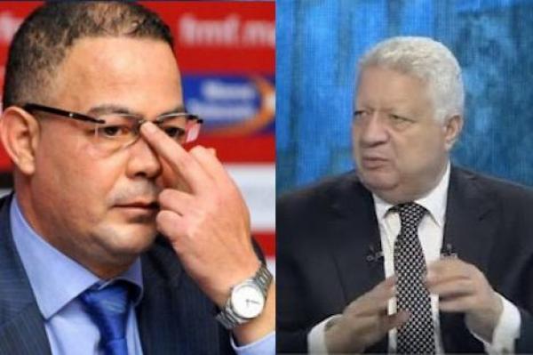 مرتضى منصور يتراجع ويعتذر عن تهديداته لفوزي لقجع