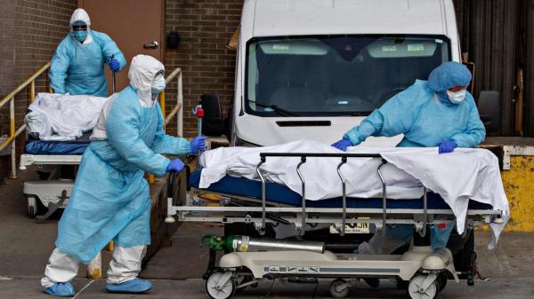 """أمريكا تسجل رقماً قياسياً مرعبا في وفيات فيروس """"كورونا"""" خلال يوم واحد"""