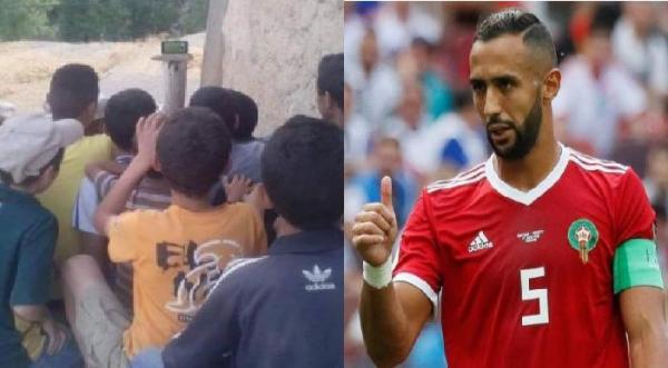 """""""بنعطية"""" يوجه رسالة مؤثرة لأطفال صغار تابعوا مقابلة المنتخب المغربي في ظروف صعبة وبهذا وعدهم"""