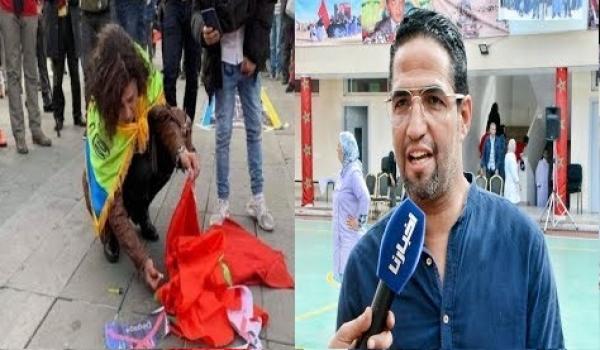 الفنان هشام الوالي في أقوى رد على الإنـفصالية التي أحــرقت العلم المغربي
