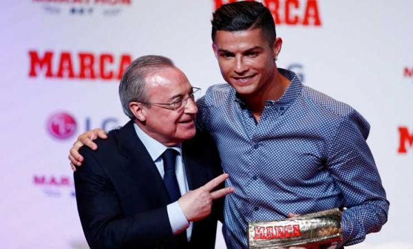"""رئيس ريال مدريد نادم جدا على التفريط في """"رونالدو"""""""