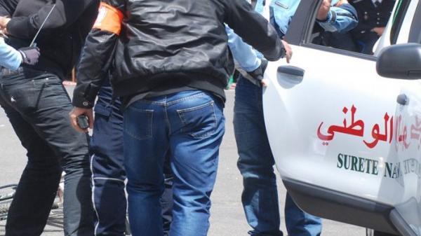 """مجموعة """"حذر"""" تُلقي القبض على شخص متلبسا بالفرار من مكان الجريمة بالدار البيضاء"""
