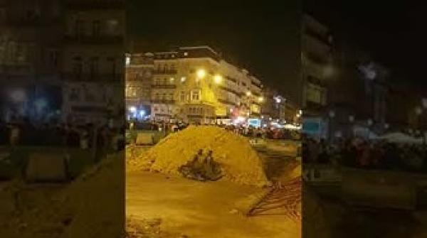احتفالات الجزائريين ببلجيكا بعد تتويج منتخبهم بلقب كأس إفريقيا