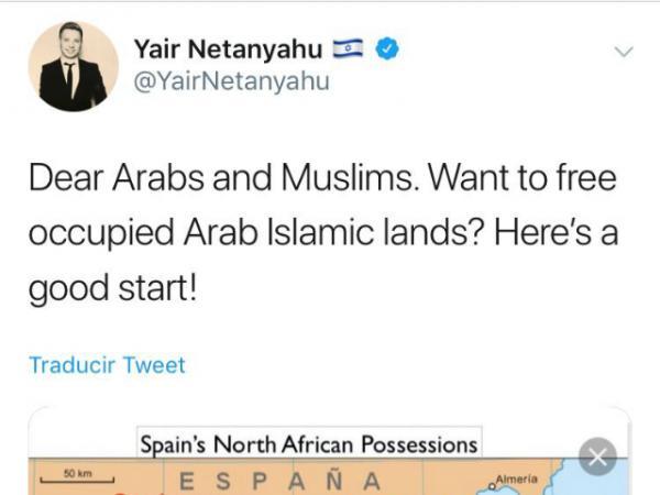 """في تغريدة مثيرة..نجل نتانياهو يِطالب العرب والمسلمين ب""""تحرير"""" سبتة ومليلة!"""