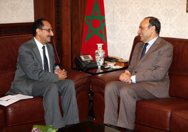 """""""المالكي"""" يستقبل سفير اليمن بالرباط وهذا ما دار في اللقاء (صور)"""