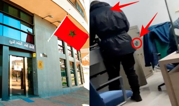 """بالفيديو: القنصلية المغربية بـ """"فالينسيا"""" تهتز على وقع فضيحة مدوية"""