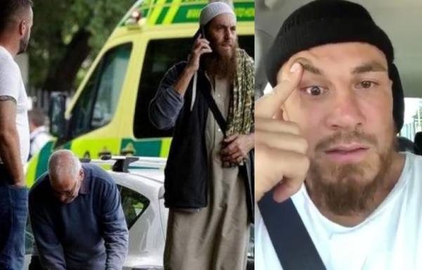 """الدموع تغالب أسطورة المنتخب النيوزيلندي """"ويليامز"""" بعد مقتل أزيد من 40 مسلما أثناء أدائهم صلاة الجمعة (فيديو)"""