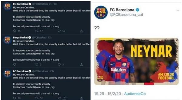 اختراق حسابات برشلونة على تويتر يكشف عن آخر مستجدات عودة نيمار