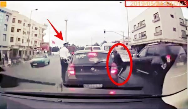 """لا هدي زعامة كبيرة : كاميرا ترصد لصا يسرق سيارة أمام أعين رجل أمن  وفيسبوكيون يطالبون بالعودة إلى نظام """"الأشغال الشاقة"""""""