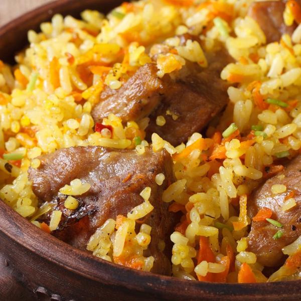 طبق الأرز واللحم الذيد