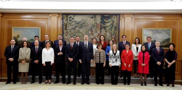الحكومة الائتلافية الإسبانية الجديدة تؤدي اليمين الدستوري