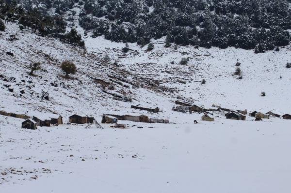 تساقطات مطرية وثلجية هامة تنعش آمال الفلاحين بإقليم خنيفرة (صور)