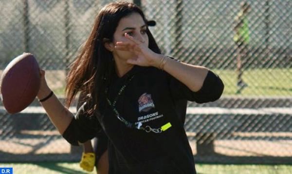 """سلمى العزاوي، شابة مغربية تتحدى """"خشونة"""" كرة القدم الأمريكية"""